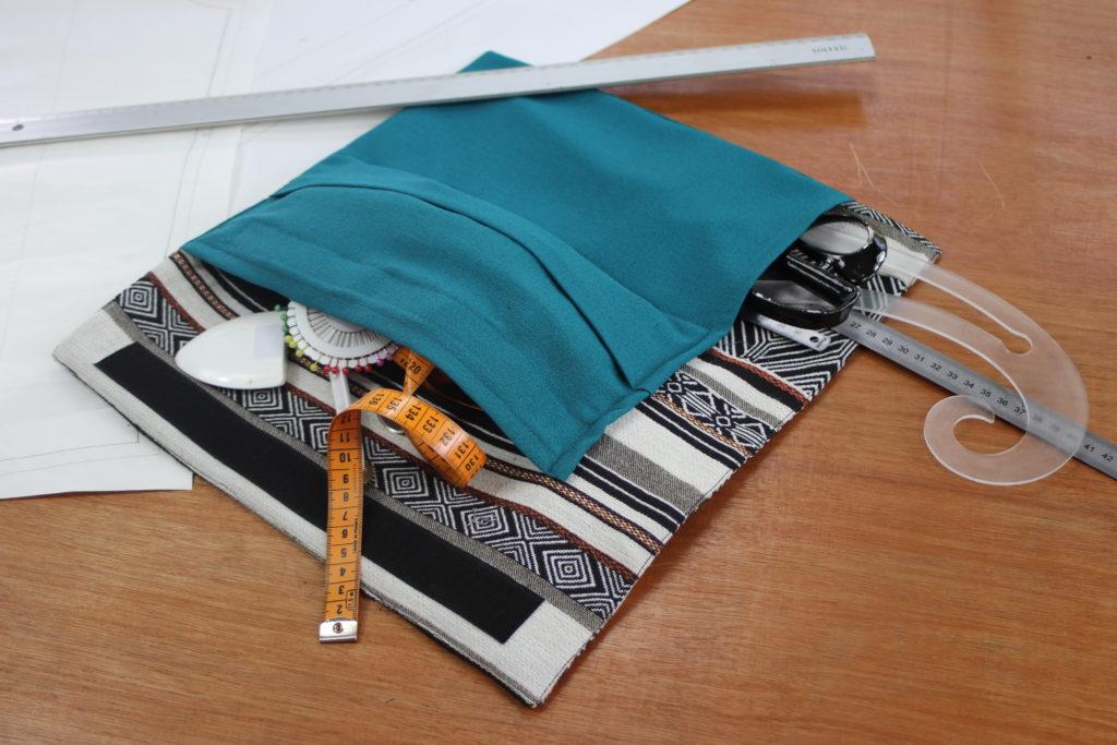 débuter en couture, 1er projet: la pochette de rangement.