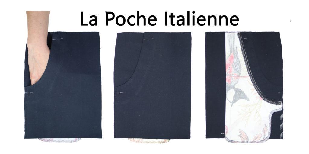 photo poches italienne endroit et envers