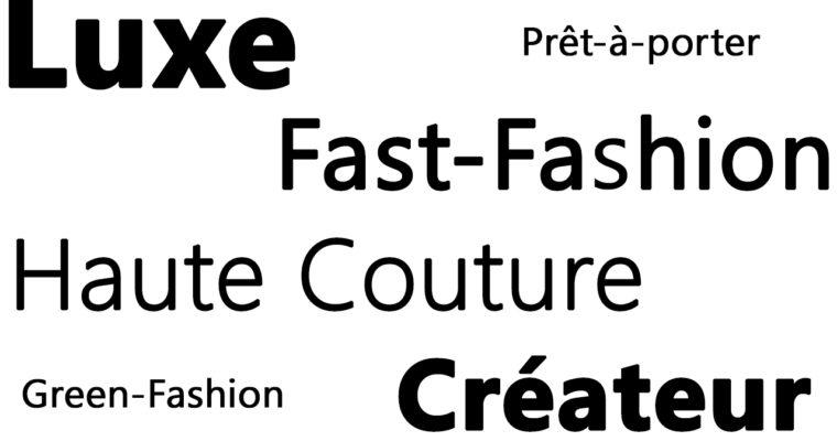 Différence Luxe/Haute Couture/Prêt-à-porter/Créateur/Fast-Fashion
