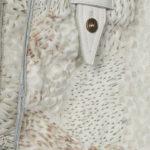 Recherche textile: Cuir peint et bruler au fer.